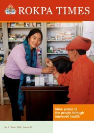 ROKPA Times March 2016 - More power to the people through improved health