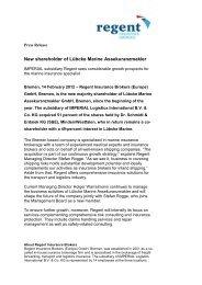 New shareholder of Lübcke Marine Assekuranzmakler
