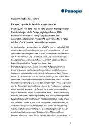 PI_Panopa Logistik für Qualität ausgezeichnet