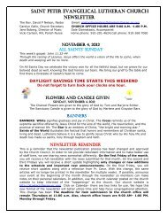 to view newsletter - Saint Peter Evangelical Lutheran Church
