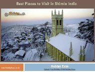 Best Places to Visit in Shimla India - HolidayKeys.co.uk