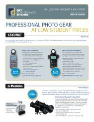 PROFESSIONAL PHOTO GEAR AT LOW  STUDENT PRICES