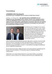 LEHNKERING stärkt Chemielogistik - Imperial Logistics International