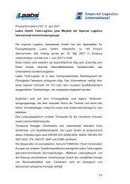Laabs GmbH, Tank-Logistic, jetzt Mitglied der Imperial