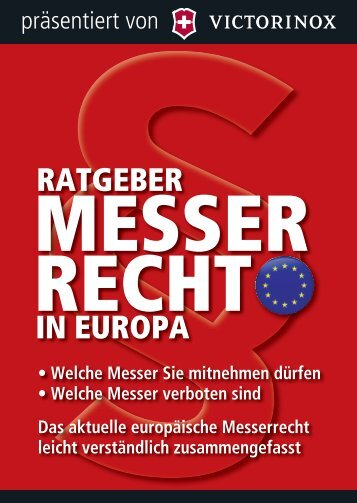 Ratgeber Messer Recht in Europa. - Swords and more GmbH