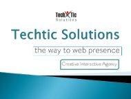 Web Design, Development Company – Techtic Solutions