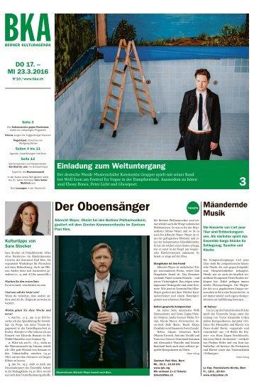 Berner Kulturagenda 2016 N°10