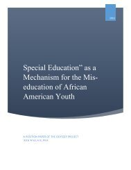 Special Education Mis-education Position Paper