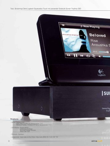 Streaming-Client Logitech Squeezebox Touch ... - digital-highend.de