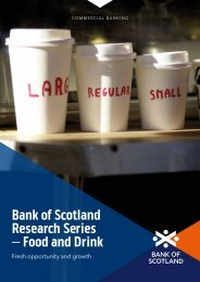 Bank of Scotland Research Series – Food and Drink