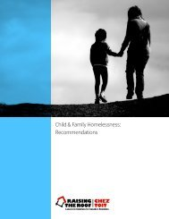 Child & Family Homelessness Recommendations