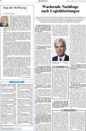 DVZ-Interview mit Gerhard Riemann vom 24.03.2005