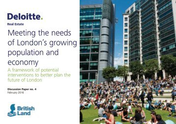of London's growing population and economy