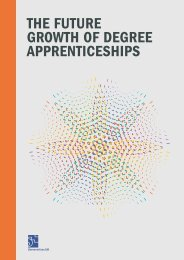 THE FUTURE GROWTH OF DEGREE APPRENTICESHIPS