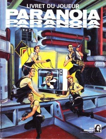 Paranoïa - Le Livret des Joueurs