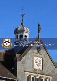 Year 9 Options Booklet 2016 - 2018