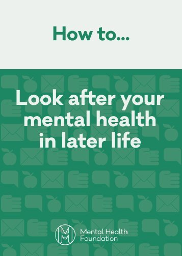 Look after your mental health in later life