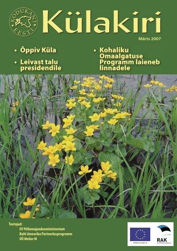 Märts 2007 - Eesti Külaliikumine Kodukant