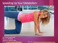 Speeding up your Metabolism - Evolution Madison
