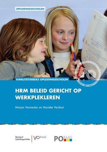 HRM BELEID GERICHT OP WERKPLEKLEREN