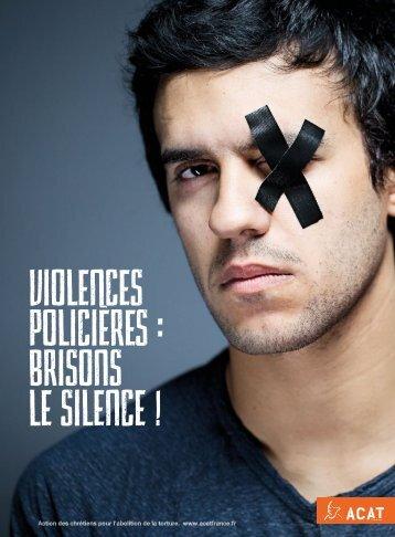 VIOLENCES POLICIÈREs  brisons le silence !