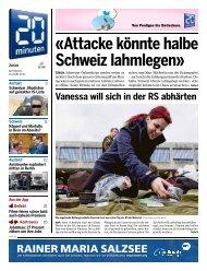 «Attacke könnte halbe Schweiz lahmlegen»