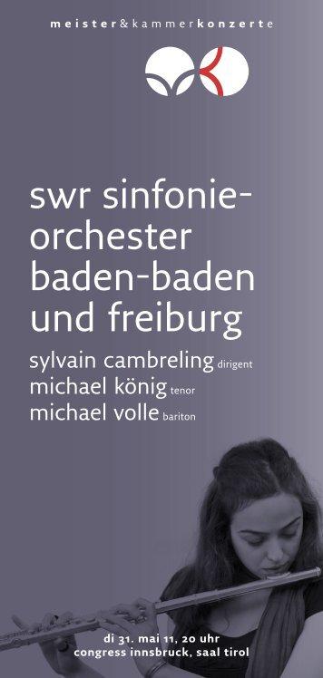 swr sinfonie orchester badenbaden und freiburg - Meister ...