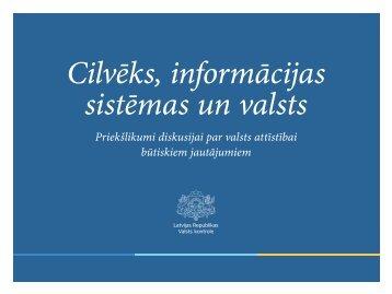 Cilvēks informācijas sistēmas un valsts