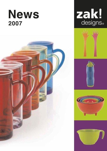 3/pi/èces Zak Designs Happy Cuill/ère Set de Table Orange