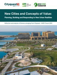 New Cities and Concepts of Value