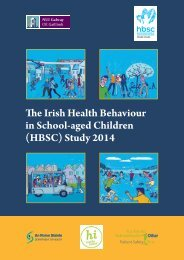 The Irish Health Behaviour in School-aged Children (HBSC) Study 2014