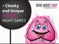 4 Cheeky and Unique Hens Night Games