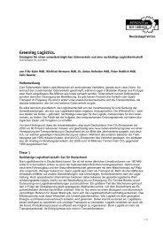 Greening Logistics. - LAG Wirtschaft und Finanzen NRW