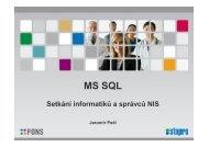 Edice MS SQL 2012 - STAPRO sro