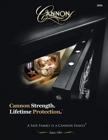 2016 Cannon Safe Main Line Catalog