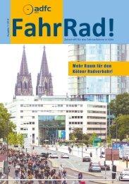 ADFC Köln: FahrRad! Nr. 1-2016