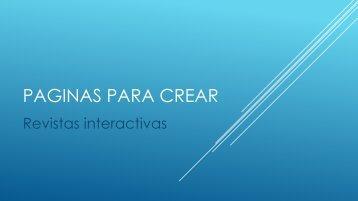 Sitios para crear revistas interactivas