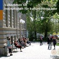 Institutionen för kulturvetenskaper - Institutionen för konst - Lunds ...