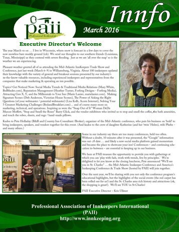 PAII newsletter March 2016