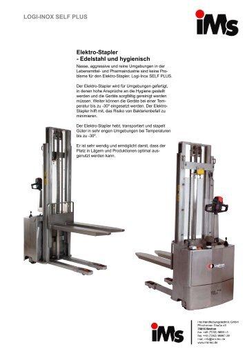 Elektro-Stapler - Edelstahl und hygienisch LOGI-INOX SELF PLUS