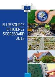 EU RESOURCE EFFICIENCY SCOREBOARD 2015