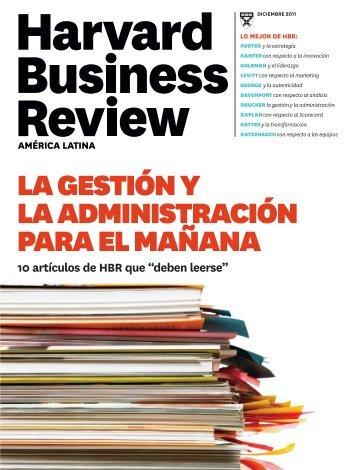 La Gestión y la Administración Para el Mañana - Harvad Business Review