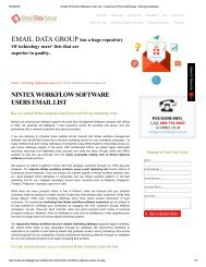 Nintex Workflow Software Users List
