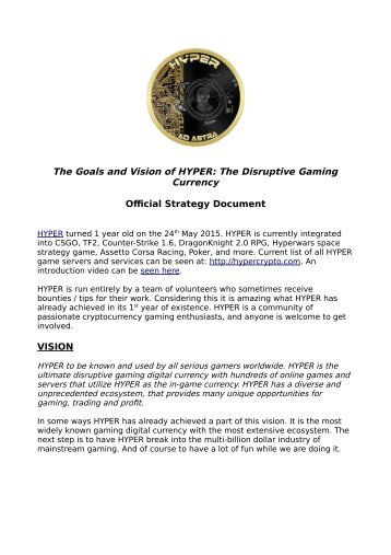 Official Strategy Document VISION