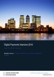 Digital Payments Intensive 2016