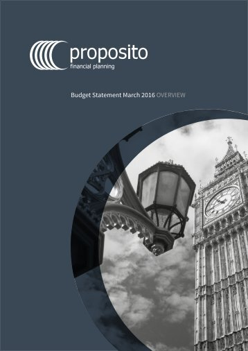 Budget Statement March 2016 OVERVIEW