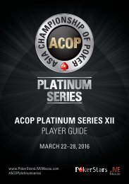 ACOP PLATINUM SERIES XII PLAYER GUIDE