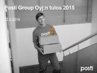 Posti Group Oyj:n tulos 2015