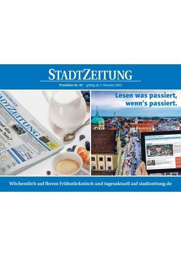 StadtZeitung - Preisliste 2016