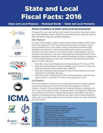 State and Local Fiscal Facts 2016